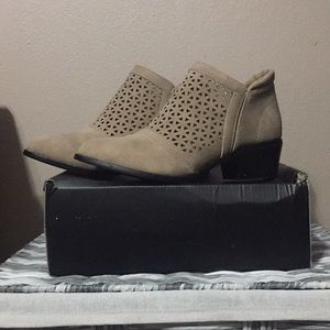 New in box taupe booties
